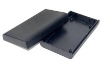 BLACK PLASTIC BOX ROUND EDGES 29x70x123mm