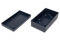 BLACK PLASTIC BOX 45x70x125mm