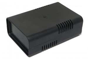 BLACK PLASTIC BOX FOR 75x100mm PCB