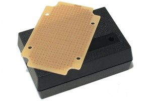 SMALL ABS BOX WITH PCB PROTOTYPING BOARD 30x59x88mm