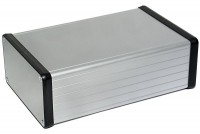 CLEAR ANODIZED ALUMINUM ENCLOSURE 53x103x160mm