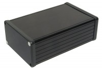 BLACK ANODIZED ALUMINUM ENCLOSURE 53x103x160mm