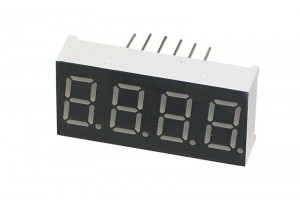 GREEN QUAD 7-SEGMENT LED DISPLAY 30x14 mm COMMON ANODE