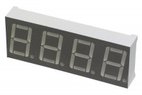 RED QUAD 7-SEGMENT LED DISPLAY 50x19 mm COMMON ANODE
