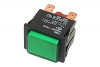 GREEN LIGHTED SPDT PUSH-BUTTON SWITCH 16A 250VAC