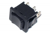 ROCKER SWITCH 1-POLE (ON)/OFF/(ON) 6A 250VAC