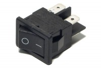 ROCKER SWITCH 2-POLE ON/OFF 6A 250VAC BLACK