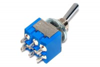 2-POLE SMALL TOGGLE SWITCH ON/ON/ON (3-way)