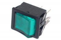 ROCKER SWITCH 2-POLE ON/OFF 16A 250VAC with light