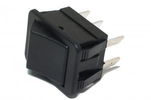 ROCKER SWITCH 2-POLE ON/(ON) 16A 250VAC