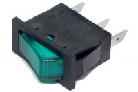ROCKER SWITCH 1-POLE ON/OFF 10A 250VAC with light
