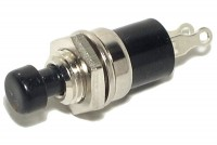 PUSH-BUTTON SWITCH 1A 125VAC BLACK