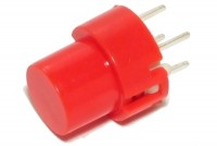 ROUND MOMENTARY KEY SWITCH N.O. SPST RED