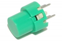 ROUND MOMENTARY KEY SWITCH N.O. SPST GREEN