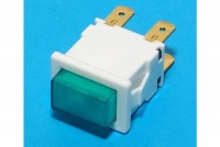 GREEN LIGHTED SPDT PUSH-BUTTON SWITCH 12A 250VAC