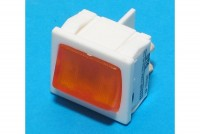 ROCKER SWITCH 2-POLE ON/OFF 10A 250VAC with light