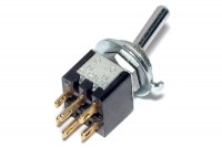 2-POLE EXTRA SMALL TOGGLE SWITCH ON/ON