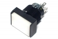 LIGHTED SPDT PUSH-BUTTON SWITCH RECTANGLE WHITE