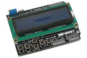 ARDUINO COMPATIBLE LCD 2X16 SHIELD WITH 6 BUTTONS