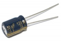 LOW ESR ELECTROLYTIC CAPACITOR 120UF 35V 8,5x12mm