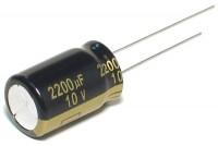 LOW ESR ELECTROLYTIC CAPACITOR 2200UF 10V 13x21mm