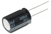 LOW ESR ELECTROLYTIC CAPACITOR 2200UF 35V 16x26mm