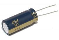 LOW ESR ELECTROLYTIC CAPACITOR 470UF 63V 13x31mm