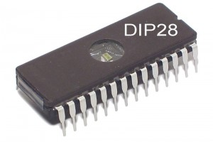 EPROM MUISTIPIIRI 64Kx8 100ns DIP28