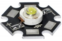 POWER LED 1W STAR COLD WHITE (side emitting)