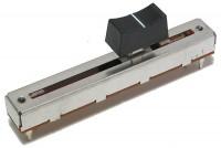 LIUKUPOTENTIOMETRI 60mm MONO LINEAARI(B) 10kohm NUPILLA (musta)