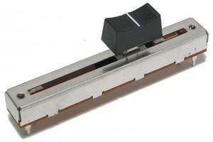 SLIDE POTENTIOMETER 60mm MONO LINEAR(B) 10kohm WITH BLACK KNOB