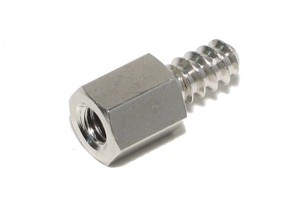 STEEL SPACER SCREW M4 8mm COARSE THREAD