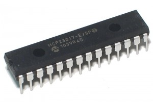 MIKROPIIRI IO MCP23017 (I2C) DIP28