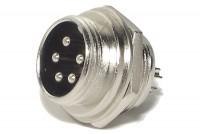 MIC CONNECTOR 5-PIN PANEL MOUNTSOCKET