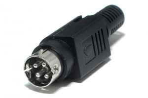 MINIDIN 4 PIN MALE POWER CONNECTOR