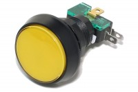MICRO SWITCH WITH LARGE BUTTON AND YELLOW 12V LED LIGHT