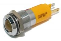 10mm LED INDICATOR LIGHT 12V YELLOW