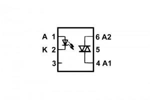 OPTOCOUPLER MOC3022 DIP6