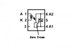 OPTOCOUPLER ZERO CROSSING DRIVER DIP6