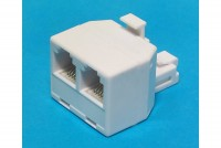 RJ12-ADAPTER 1x MALE / 2x FEMALE (6P6C)