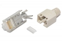 Hirose RJ45 (8P8C)-CONNECTOR CAT5e SHIELDED GRAY