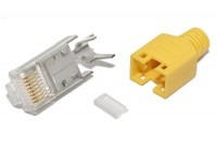 Hirose RJ45 (8P8C)-CONNECTOR CAT5e SHIELDED YELLOW