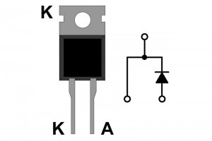 FAST DIODE 8A 600V 50ns TO220