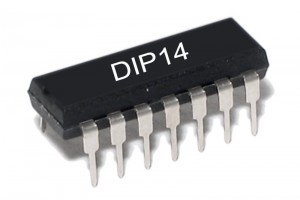 TTL-LOGIC IC NAND 7410 F-FAMILY DIP14