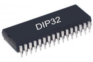 FLASH MEMORY IC 512Kx8 90ns DIP32
