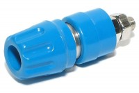 4mm CAPTIVE BINDING POST Hirschmann BLUE