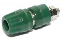 4mm CAPTIVE BINDING POST Hirschmann GREEN