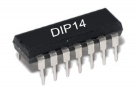 TTL-LOGIIKKAPIIRI NOT 7404 HC-PERHE DIP14