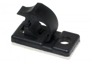 RELEASIBLE CABLE HOLDER Ø6,5mm BLACK