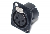 Neutrik XLR-FEMALE 3-PIN PANEL MOUNT SOCKET